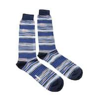 Missoni GM00CMU4658 0002 Royal Blue/Periwinkle Knee Length Socks - L