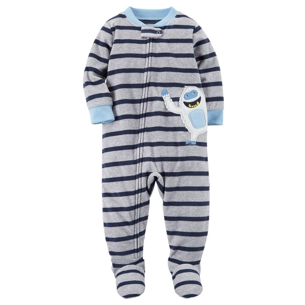 Carters Big Boys One Piece Fleece Footed Pajamas