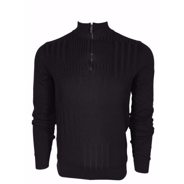933397030 Shop BOSS Hugo Boss Black Label $195 Slim Fit Zip Neck Sweater Shirt Medium  - Free Shipping Today - Overstock - 14417201