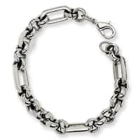 Chisel Stainless Steel Fancy Link Bracelet