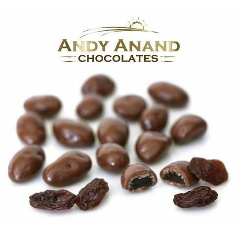 Andy Anand Milk Chocolate California Raisins Box 1 lbs