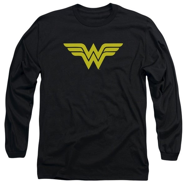 3351abd301ba Shop DC Comics Wonder Woman Logo Mens Long Sleeve Shirt - Free Shipping On  Orders Over $45 - Overstock - 27138543
