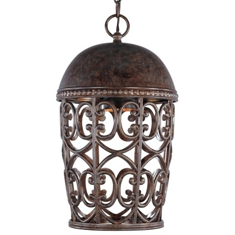 Designers Fountain 97594 Single Light Down Lighting Outdoor Pendant from the Dark Sky Amherst Collection