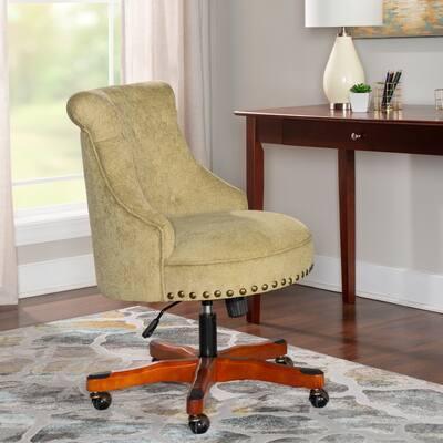 Linon Bond Olive Green Office Swivel Chair