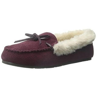 Clarks Womens Suede Roll Collar Moccasins