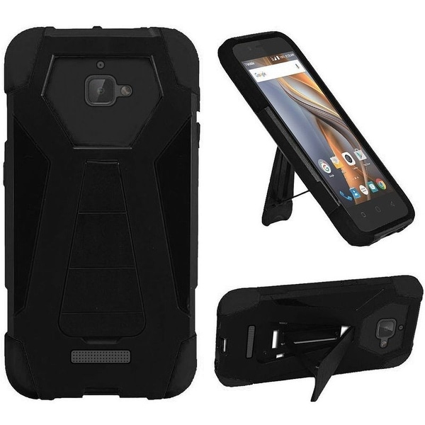 Insten Hard PC/ Silicone Dual Layer Hybrid Case Cover with Stand For Coolpad Catalyst