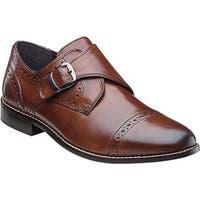 Nunn Bush Men's Newton Cap-Toe Monk Strap Brown Leather