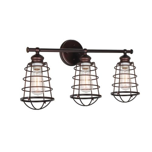 Design House 519736 Ajax Reversible 3 Light Dimmable Bathroom Vanity Light  In Textured Coffee Bronze Finish   Free Shipping Today   Overstock.com    22806516