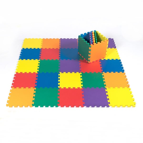 Kidzone 36 Piece Kids Foam Puzzle Play Mat EVA Non-Toxic Large Size 36 Tiles Mat, 6 Vibrant Colors