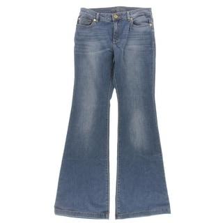 MICHAEL Michael Kors Womens Flare Jeans Denim Stretch