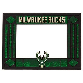 Milwaukee Bucks Art Glass Horizontal Frame