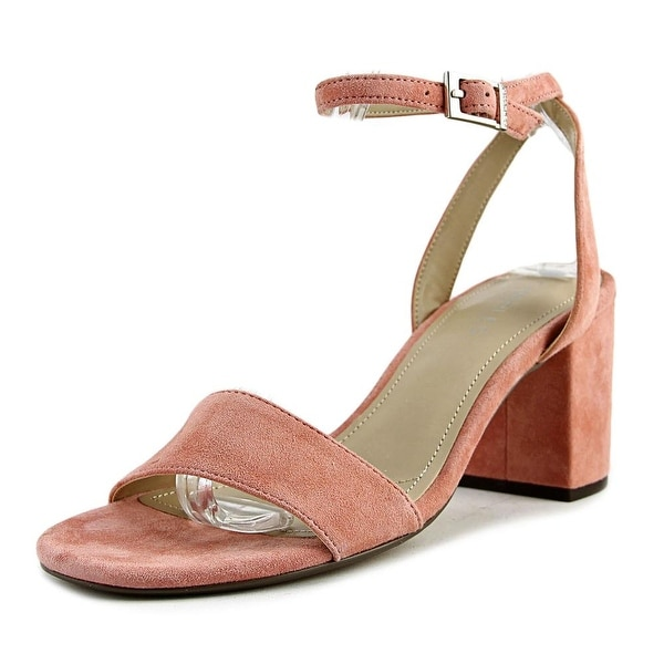 Charles By Charles David Keenan Women Open Toe Suede Pink Sandals