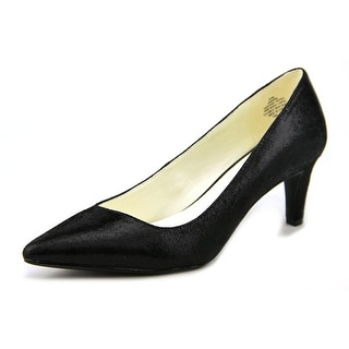 Anne Klein Barb Pointed Toe Leather Heels