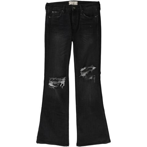 Free People Womens Authentic Ripped Flared Jeans