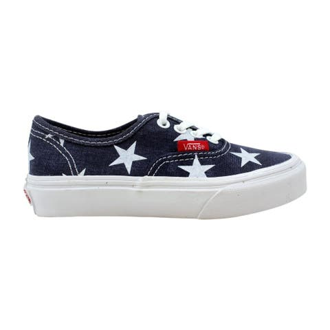 75b46dd8c664c Vans Pre-School Authentic True White Stars & Stripes VN-0ZUQFL9 Size 11.5