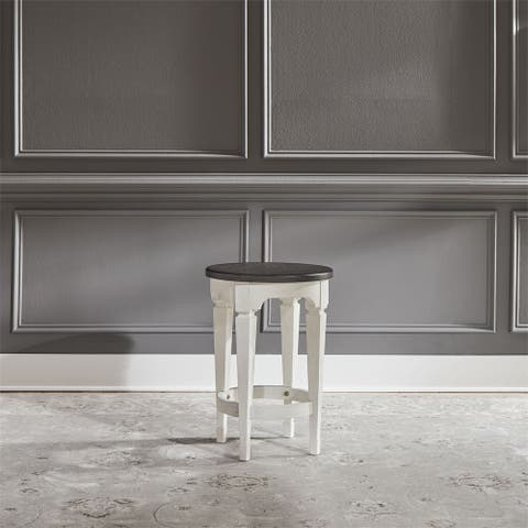 Allyson Park Wirebrushed White Console Stools
