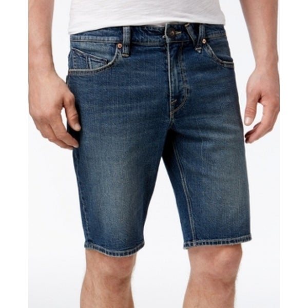 5d8c43a0 Shop Volcom NEW Blue Mens Size 34 Solver Modern-Straight Fit Denim Shorts - Free  Shipping On Orders Over $45 - Overstock - 18739108