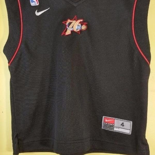 3f4aa625fa1e Shop Philadelphia 76Ers Boys Shirt Size 4 Nike Team Sleeveless Top ...