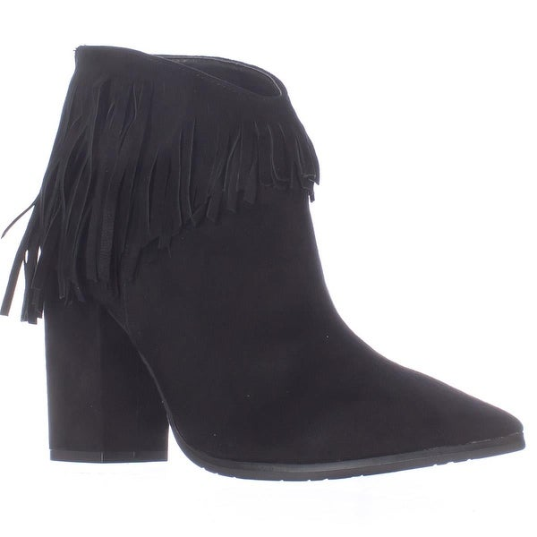 Kenneth Cole REACTION Pull Ashore Fringe Ankle Booties, Black