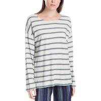 Max Studio London Womens Pullover Top Striped Jewel Neck - S