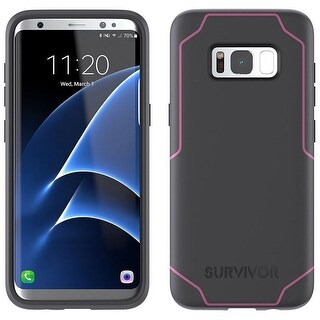Griffin Cell Phone Case for SAMSUNG GALAXY S8 - GRAY /PINK
