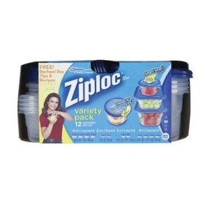 Ziploc 70026 Food Storage Variety Pack, 12 Count