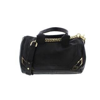 Botkier Womens Leather Convertible Crossbody Handbag - Black - Large