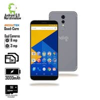 "GSM Unlocked 4G LTE 5.6"" SmartPhone by Indigi (QuadCore Processor @ 1.2GHz + Android 6 + Fingerprint) Black + 32gb microSD"