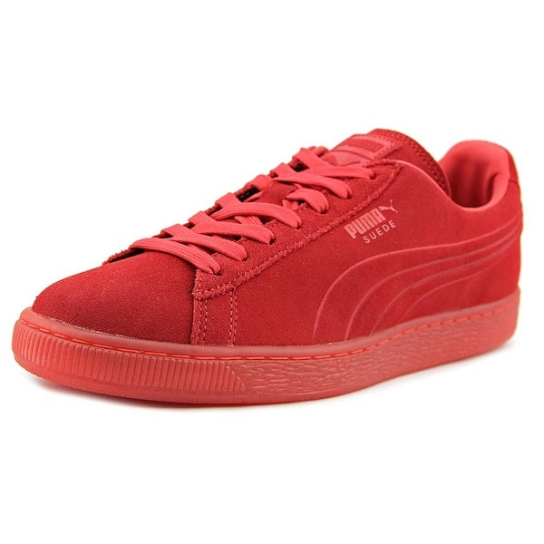 Puma Suede Iced Round Toe Suede Sneakers