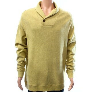 Tasso Elba NEW Honey Gold Mens Size Large L Shawl Collar Sweater