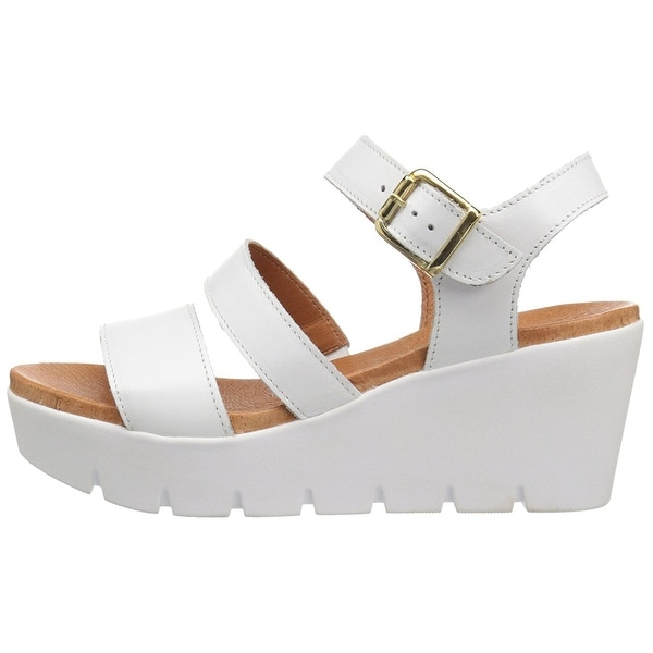 Bos. & Co. Womens Petra Leather Open Toe Casual Platform Sandals