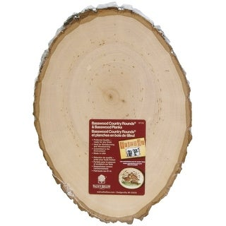 """Basswood Country Round Plaque-7"""" To 9"""" Wide"""