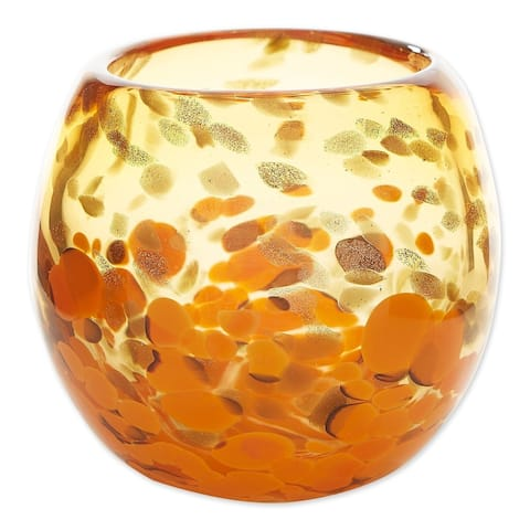 Innovative Orange Bowl Vase - Yellow