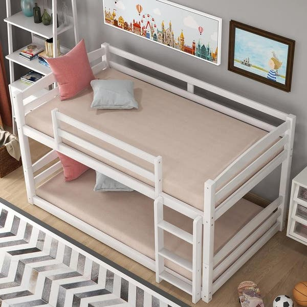 Twin Over Twin Bunk Bed Separable White On Sale Overstock 32118935