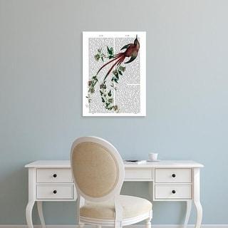 Easy Art Prints Fab Funky's 'Passion Flower Bird' Premium Canvas Art