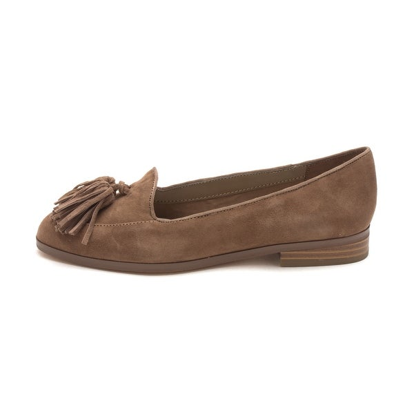 Anne Klein Womens Darcy Leather Almond Toe Loafers
