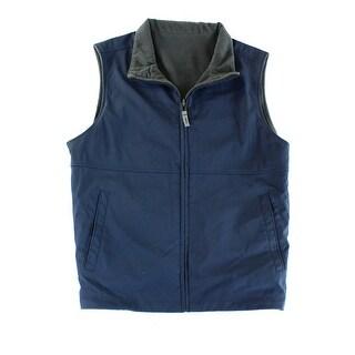 Weatherproof NEW Blue Mens Size Medium M Full Zip Reversible Vest