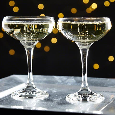 Gatsby Champagne Coupe Glasses, Set of 2