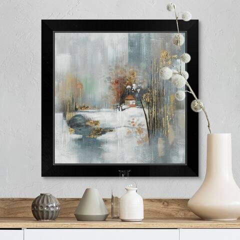 """""""Snowy Scene"""" Black Framed Print"""