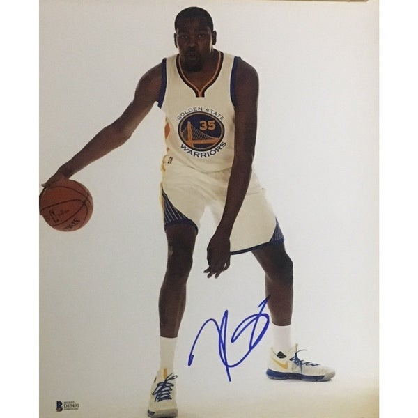 c4d2a6d31b9 Shop Kevin Durant Autographed Warriors Signed Basketball 11x14 Photo Beckett  BAS COA - Free Shipping Today - Overstock - 21422233