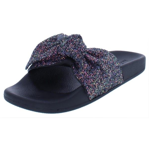 807ba8ffeaab Shop Kate Spade Womens Shellie Flat Sandals Glitter Knot - Free ...