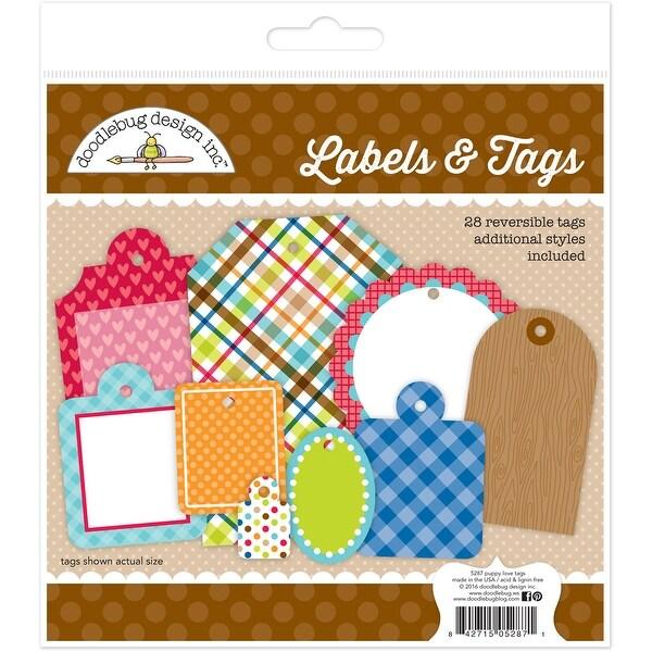 Puppy Love Labels & Tags 28/Pkg-