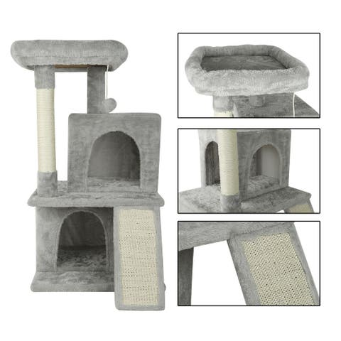 """confote 36"""" Cat Tree 2 Condo Kitten Activity Tower Scratching Posts"""