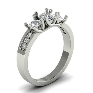 Link to 0.80 CT Classic Three-Stone Round Cut Diamond Engagement Ring in 14KT Similar Items in Wedding Rings