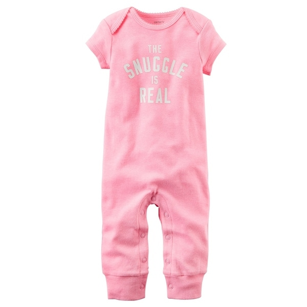 eedcbb36f Shop Carter's Baby Girls' Neon The Snuggle Is Real Jumpsuit, 3 Months -  Free Shipping On Orders Over $45 - Overstock - 19515537