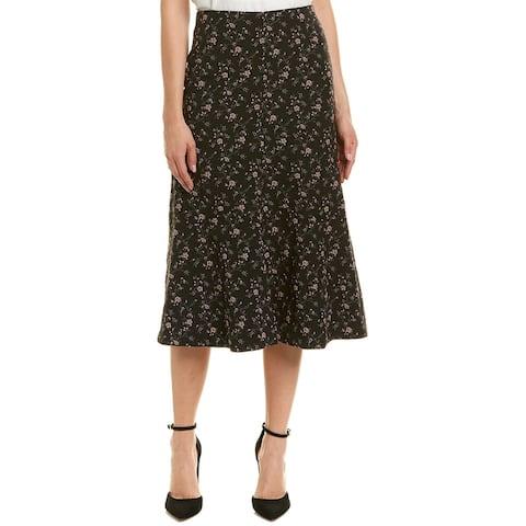 Rebecca Taylor Floral Jacquard Midi Skirt