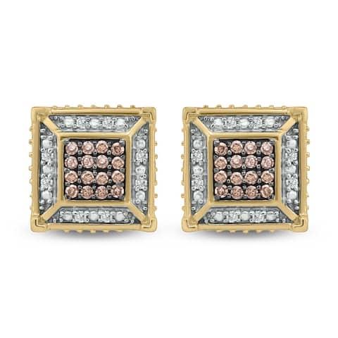 Cali Trove 1/4ct TDW Diamond Men's Stud Earring In 10kt Yellow Gold