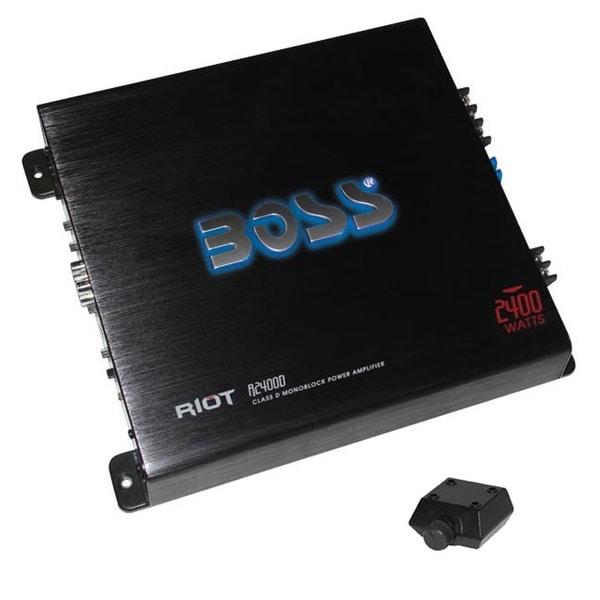 Boss Riot Class D Monoblock Amplifier 2400W Max