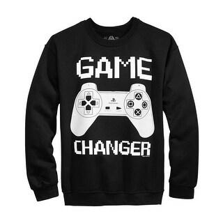 American Rag Game Changer Graphic Crewneck Sweatshirt Deep Black Large L