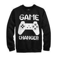 American Rag Game Changer Graphic Crewneck Sweatshirt Deep Black X-Large